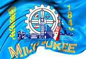 Flag Of Milwaukee, Usa.