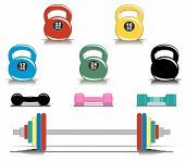 Colorful Fitness Equipment.eps