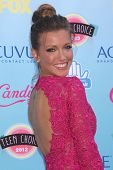 LOS ANGELES - AUG 11:  Katie Cassidy at the 2013 Teen Choice Awards at the Gibson Ampitheater Univer