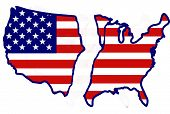 Usa Broken Map