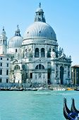 VENICE, ITALY - APRIL 13: Santa Maria della Salute in the Grand Canal on April 13, 2013 in Venice, I