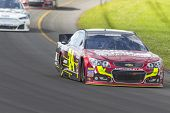 LOMG POND, PA - AUG 04, 2013:  Jeff Gordon (24) takes to the track for the GoBowling.com 400 race at