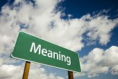Meaning Road Sign