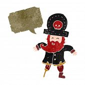 image of peg-leg  - retro cartoon pirate captain - JPG