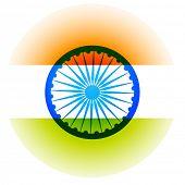vector indian flag background design