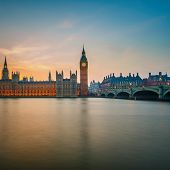 stock photo of british culture  - Big Ben and Houses of parliament at night - JPG