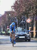 The Cyclist Van Summeren Johan- Paris Nice 2013 Prologue In Houilles