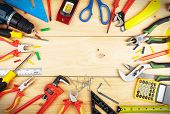 stock photo of carpenter  - Construction tools - JPG