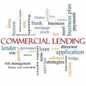foto of lien  - Commercial Lending Word Cloud Concept with great terms such as loan fees business plan and more - JPG
