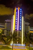 Night View At Ocean Drive At Breakwater Hotel