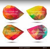 Colorful speech bubbles . Vector illustration for your business website.