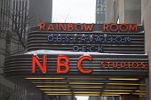 The famous Rockefeller Center is home to NBC studios, an observation deck, and the Rainbow Room