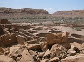 pic of pueblo  - Chaco Culture National Historic Park is located in northern New Mexico and features pueblo dwellings dating back 1 - JPG