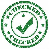 Checked-stamp