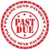 Past Due-stamp