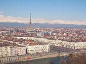 image of turin  - Turin skyline seen from the hills surrounding the city - JPG