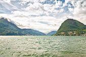 Lake Lugano. Switzerland. Europe.