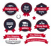picture of 100 percent  - Vector eCommerce badges and ribbons.