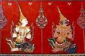 stock photo of mural  - BANGKOK THAILAND  - JPG