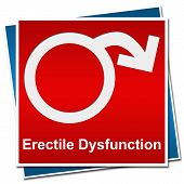 stock photo of erectile dysfunction  - Erectile dysfunction symbol with red  on red background - JPG