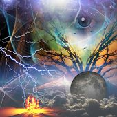image of revelation  - Hands show revelation of power beneath - JPG