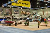 Nautique Stand At The Los Angeles Boat Show On February 7, 2014 At The L.a. Convention Center In Los