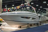 Regal Boat On Display At The Los Angeles Boat Show On February 7, 2014 At The L.a. Convention Center