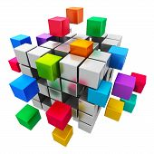 stock photo of cube  - Business teamwork - JPG