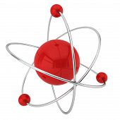 stock photo of neutrons  - Model of atom - JPG