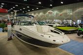 Sea Ray 260 Sundeck Boat On Display At The Los Angeles Boat Show On February 7, 2014 At The L.a. Con