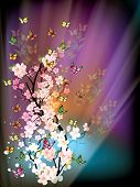 beautiful vector illustration with colorful butterflys