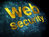 SEO web development concept: Web Security on digital background