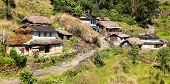 picture of nepali  - View of beautiful primitive village in western Nepal - JPG