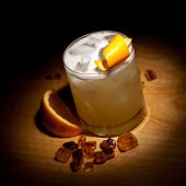 Whiskey Sour Cocktail - Bourbon with Lemon Juice, Sugar Syrup and Egg White