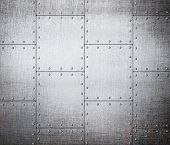 stock photo of hard-on  - metal plates background - JPG