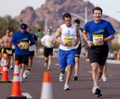 Competitor in the 2010 Phoenix Marathon