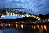 Pedestrian Bridge In Bilbao, Spain