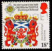 Britain Coat Of Arms Postage Stamp