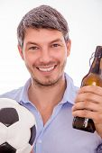 man enjoying soccer seasong sportive