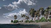 Thunder-storm on tropical island