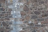 image of stonewalled  - Antique natural stonewall old stones in different sizes - JPG