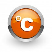 celsius orange glossy web icon