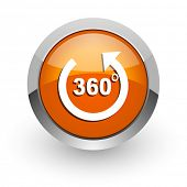 panorama orange glossy web icon