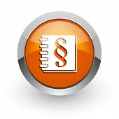law orange glossy web icon
