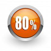 80 percent orange glossy web icon