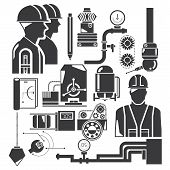 engineering icons, mechanical set
