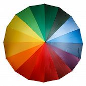 Colorful umbrella isolated on a white background