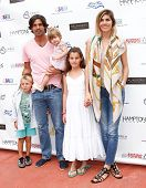 BRIDGEHAMPTON, NY-JUL 19: (L-R) Artemio, Nacho Figueras, Alba, Aurora and Delfina Blaquier attend th