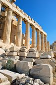 Columns Of Parthenon Temple, Athens,