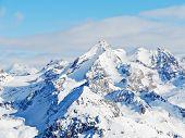 Snow Mountains In Paradiski Skiing Domain